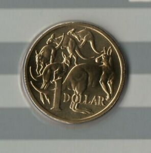 1987 AUSTRALIA: MOB OF ROOS $1 COIN FROM MINT SET FREE POSTAGE