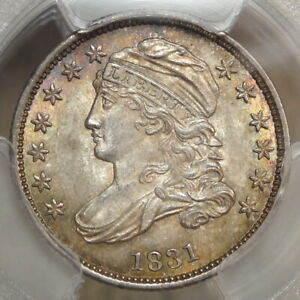 Click now to see the BUY IT NOW Price! 1831 CAPPED BUST DIME JR 3 ORIGINAL PCGS MS 64 NEAR POP TOP
