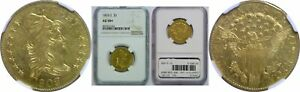 1803/2 $5 GOLD COIN NGC AU 58