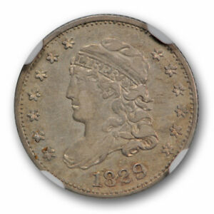 1829 CAPPED BUST HALF DIME LM 10 H10C NGC AU 50 ABOUT UNCIRCULATED R 5 VARIETY