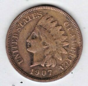 1907 INDIAN HEAD CENT IN FINE CONDITION : STK R62