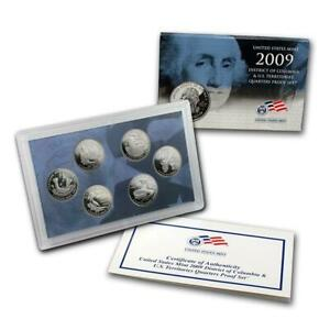 2009 U.S. MINT DC & US TERRITORIES QUARTERS PROOF COIN SET NEW IN BOX WITH COA