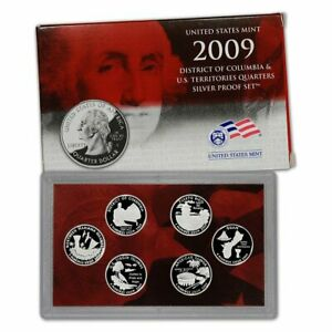 2009 U.S. MINT DC & US TERRITORIES SILVER QUARTERS PROOF COIN SET IN US MINT BOX