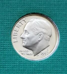 1997 S   ROOSEVELT DIME  CAMEO  UNCIRCULATED  PROOF   FREE SHIP