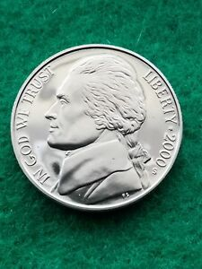 2000 S  JEFFERSON NICKEL UNCIRCULATED  PROOF   FREE SHIP