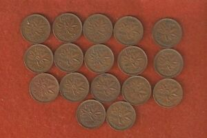 SET OF 17 KING GEORGE VI ONE CENT COINS NICE COLLECTABLE ONE CENT COINS E426