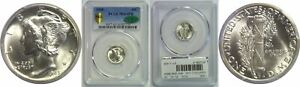 Click now to see the BUY IT NOW Price! 1945 MERCURY DIME PCGS MS 64 FB CAC