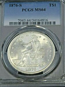 Click now to see the BUY IT NOW Price! 1876 S TRADE DOLLAR PCGS MS64  IN BLAST WHITE SUPERB LUSTER PQ 61S
