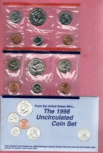 1998 P & D U.S. MINT SET NICE QUALITY GEM BU COINS  NICE SET BUY IT NOW