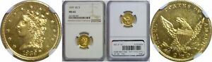 Click now to see the BUY IT NOW Price! 1839 $2.50 GOLD COIN NGC MS 62