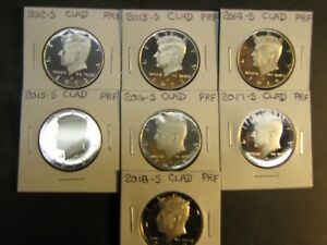Click now to see the BUY IT NOW Price! 2012 S 2013 S 2014 S     2017 S 2018 S 2019 S  CLAD PROOF KENNEDYS  8 COINS