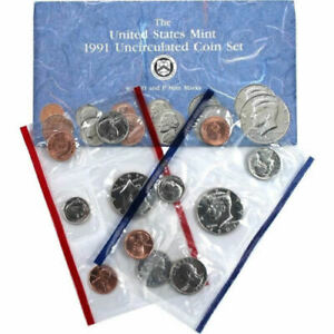 1991 P & D U.S. MINT SET NICE COINS IN ORIGINAL ENVELOPE BUY IT NOW