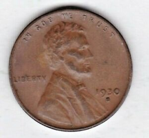 1930 S  LINCOLN CENT IN FINE CONDITION STK 1A