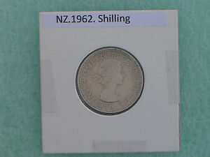 NEW ZEALAND   1962 ONE SHILLING   PREDECIMAL COIN   COPPER/NICKEL.