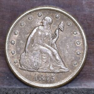1875 CC TWENTY CENT PIECE   VF  21569