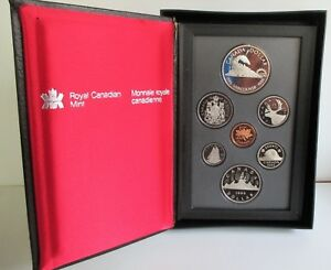 1986 CANADA PROOF SET W/ DOUBLE DOLLARS. FOLDER BOX AND COA.
