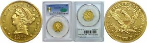 Click now to see the BUY IT NOW Price! 1874 CC $5 GOLD COIN PCGS AU 58 CAC