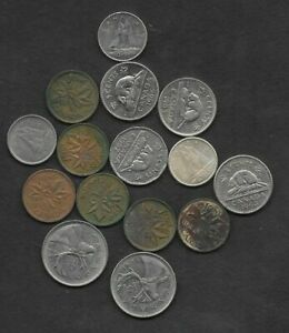 CANADA MIXED COINS LOT ONE SILVER