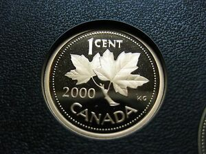 2000 CANADIAN PROOF PENNY ONE CENT   1 CENT