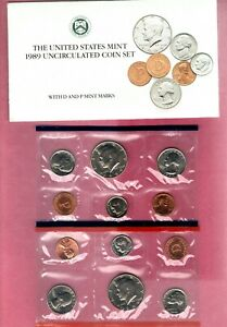 1989 P & D U.S. MINT  SET IN ORIGINAL MINT PACKAGE.  NICE BU COINS  BUY IT NOW