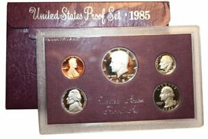 1985 S US MINT 5 COIN PROOF SET