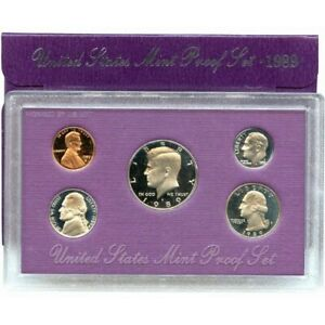 1989 S US MINT 5 COIN PROOF SET