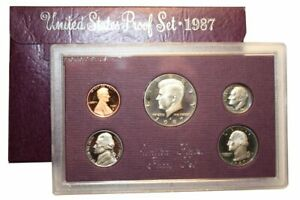 1987 S US MINT 5 COIN PROOF SET
