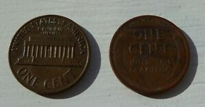 1935 & 1970 UNITED STATES OF AMERICA ONE CENT COINS USA 1 CENT