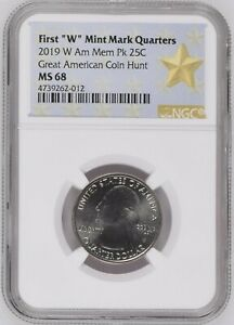 Click now to see the BUY IT NOW Price! 2019 W AMERICAN MEMORIAL PARK ATB QUARTER NGC MS68 GREAT AMERICAN COIN HUNT 25C