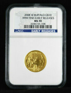 Click now to see the BUY IT NOW Price! 2008 W 1/4 OZ GOLD BUFFALO $10 NGC MS70 IN BLUE EARLY RELEASES LABEL