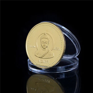 1PC GOLD PLATED COIN NEPAL BUDDHA COMMEMORATIVE COIN COLLECTION B$VG