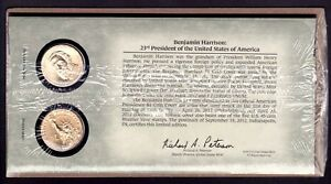 U.S. MINT 2012 P&D BENJAMIN HARRISON $1 DOLLAR COIN COVER LIMITED EDITION SEALED