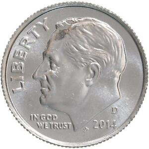 2014 D ROOSEVELT CHOICE DIME BU US COIN