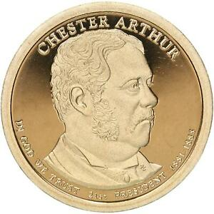 2012 S PRESIDENTIAL DOLLAR CHESTER A ARTHUR GEM DEEP CAMEO PROOF
