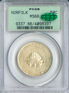 1936 50C NORFOLK SILVER COMMEMORATIVE MS66 PCGS CAC OGH  PA4098397
