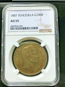 Click now to see the BUY IT NOW Price! 1887 VENEZUELA 100 BOLIVARES GOLD COIN PACHANO NGC AU55