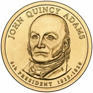 2008 D J QUINCY ADAMS US $1 DOLLAR PRESIDENTIAL UNCIRCULATED EXCELLENT COIN