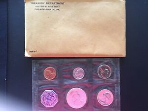 1959 P UNITED STATES MINT SET PROOF WITH ORIGINAL ENVELOPE