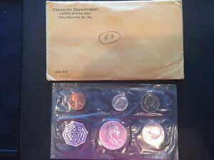 1963 P UNITED STATES MINT SET PROOF WITH ORIGINAL ENVELOPE