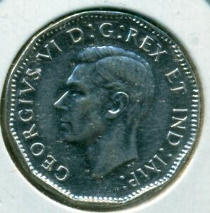 1945 CANADA FIVE CENTS CHOICE ALMOST UNCIRCULATED GREAT PRICE