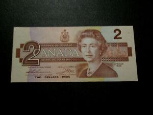 CANADIAN VINTAGE 2 DOLLAR BANK NOTE BILL UNC TOONIE PAPER MONEY TWO DOLLARS
