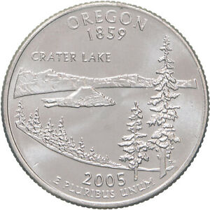 2005 P STATE QUARTER OREGON BU CN CLAD US COIN