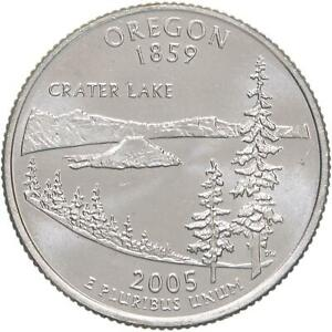 2005 D STATE QUARTER OREGON BU CN CLAD US COIN