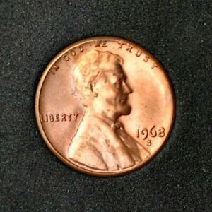 1968 S LINCOLN MEMORIAL CENT UNCIRCULATED FREE ECONOMY SHIPPING