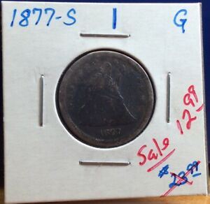 1877 S SILVER SEATED LIBERTY QUARTER COIN; GOOD DETAILS