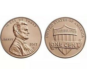 2017 P LINCOLN SHIELD PENNY   SPECIAL YEAR   BU