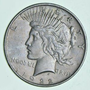 1  VG XF 1922 PEACE SILVER DOLLAR 90  US COIN EAGLE REVERSE AMERICAN 0.77 T OZ