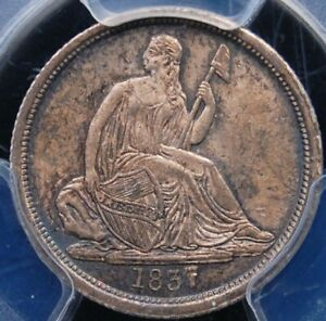 Click now to see the BUY IT NOW Price! 1837 NO STARS LG DATE SEATED DIME  PCGS MS 64 LUSTROUS WELL STRUCK & ORIGINAL