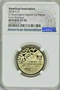 2018 S NGC PF70 AMERICAN INNOVATION DOLLAR REVERSE PROOF EARLY RELEASES