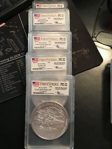 Click now to see the BUY IT NOW Price! 2014 P AMERICA ATB 5 OZ COMPLETE SET PCGS SP70 FIRST STRIKE MERCANTI  FS 25 OZ.